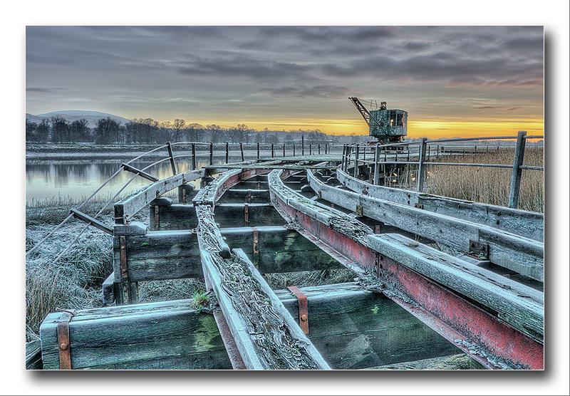 Alan Gray - Munition crane sunrise