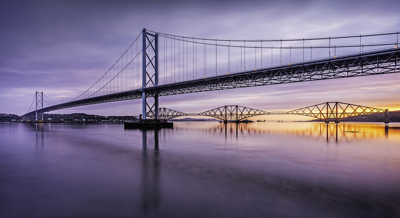 Forth Bridges Sunrise