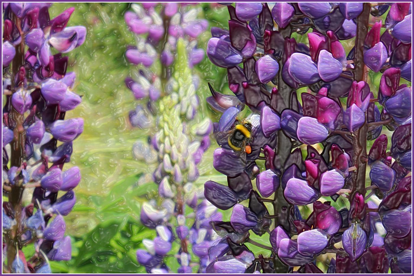roberta houston - Bee Collecting Pollen